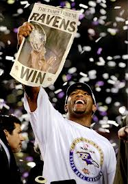 Something tells me Ray won't simply be jubilant if The Ravens win.