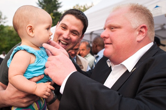 Even this goddamn baby believes in Rob Ford / photo by Nancy Paiva